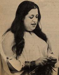 Mama Cass knitting