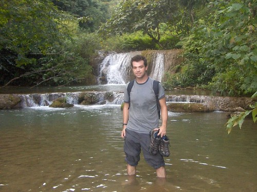 Taylor Hiking in Laos