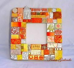 * I LOVE YOU   33 (Irma G./ IWORKARTWORK) Tags: orange espelho mirror handmade mosaic tiles clay handpainted espejo etsy naranja specchio polymer woodenbox hechoamano arcillaspolimricas  pagesiworkartwork225461827471657