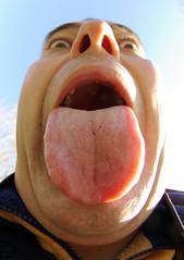My Tongue (grahambrown1965) Tags: portrait selfportrait eye face tongue mouth nose eyes pentax rude double fisheye nostril portraiture chin doublechin nostrils narcissisme 1017mm k10d pentaxk10d smcpdafisheye1017mmf3545edif justpentax