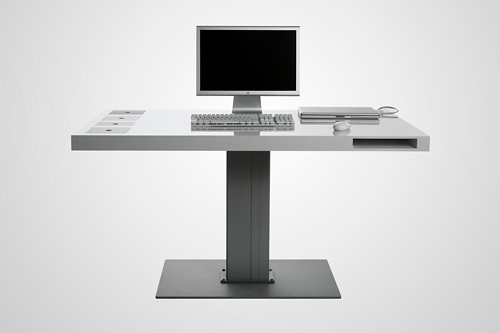 Milk Desk for Modern Office Room Interior | Home Trends | Decoration | Gardening :  desk home modern office