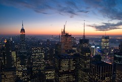 (Rodrigo Daguerre) Tags: nyc sunset newyork clouds buildings lights midtown timessquare empirestatebuilding rockefeller bigapple lightroom gebuilding abigfave