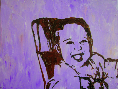 Stencil Portrait - Karen's younger daughter