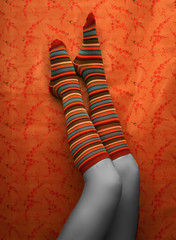 We try to grab pieces of our lives as they speed past us. Photographs freeze those pieces and help us remember how we were. We don't know these lost people but if you look around, you'll find someone just like them (*Kristene) Tags: orange color socks thankyou stripes selection much roulette xoxox kristene explored futab artsyfartsyfeet