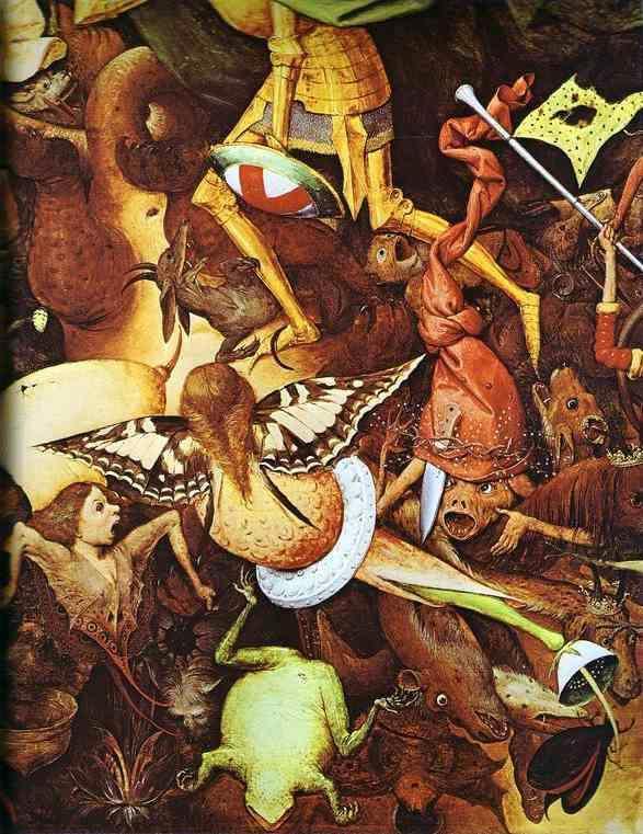 BRUEGHEL, Pieter the Elder Fall of the rebel angels (detail) 1562