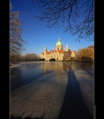 Neues Rathaus Hannover (Doblonaut) Tags: winter germany geotagged deutschland cityhall hannover 2007 neuesrathaus niedersachsen lowersaxony maschpark maschteich rathaushannover geo:lat=52364706 geo:lon=9738007
