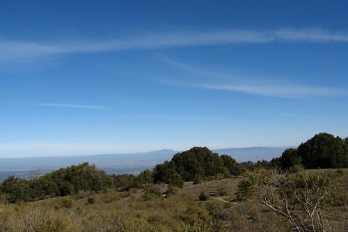 Blue sky over Los Trancos
