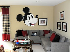 Mickey Mouse on the Wall... (garyhymes) Tags: decorations house wall painting fun mural games disney mickey pillow couch mickeymouse decorate familyroom clue disneytheme