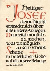 Der heilige Josef hilft