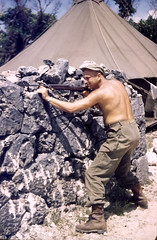 1945 Okinawa 21 (mgsmith) Tags: color geotagged soldier army war wwii okinawa 1945 jerrysmith m1carbine 718thamphibioustractorbattalion 718thamtracbattalion 718thamtrac