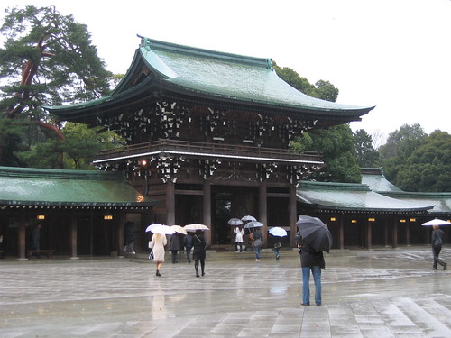 Meiji-Jingu shrine courtyard