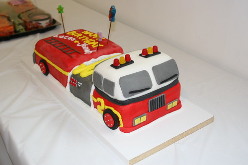 Fire Truck Birthday Cake for Lucas & Jonah