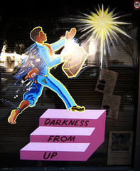 Up From Darkness (Gregory Han) Tags: sanfrancisco religious windowsignage