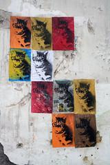 cats-flag! (SpUtNik 23 -RUR und MKZ) Tags: street art cat la stencil chat au kitty du lait 23 cul sputnik mal katz trou pochoir vanille patte rur fiacre mkz embouch miaulant pouine