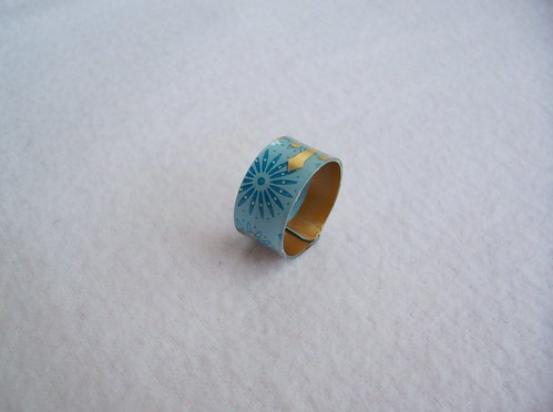 Blue Starbucks Ring