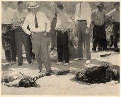 vintage: death in the arizona desert (deflam) Tags: arizona men vintage dead death globe desert grim police coworkers scene crime morbid ew outlaws greatgrandpa ghastly fugitives notpretty