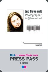 Flickr Badge (Luc Deveault) Tags: test canada flickr quebec pass québec badge luc press deveault lucdeveault