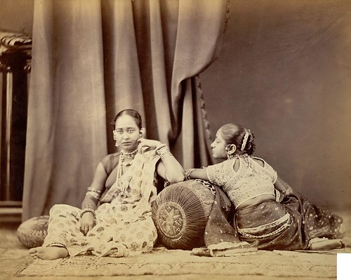 Girls wearing jewellery, from the Bengal collection at the International Exhibition of (1872)