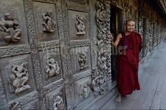 30099866 (wolfgangkaehler) Tags: 2017 asia asian southeastasia myanmar burma burmese mandalay mandalayhill shwenandawmonastery goldenpalacemonastery buddhist buddhistart buddhistartwork buddhistmonasteries buddhistmonastery buddhisttemple buddhisttemples teakwood teak woodenarchitecture woodencarving people person posing buddhistmonk man