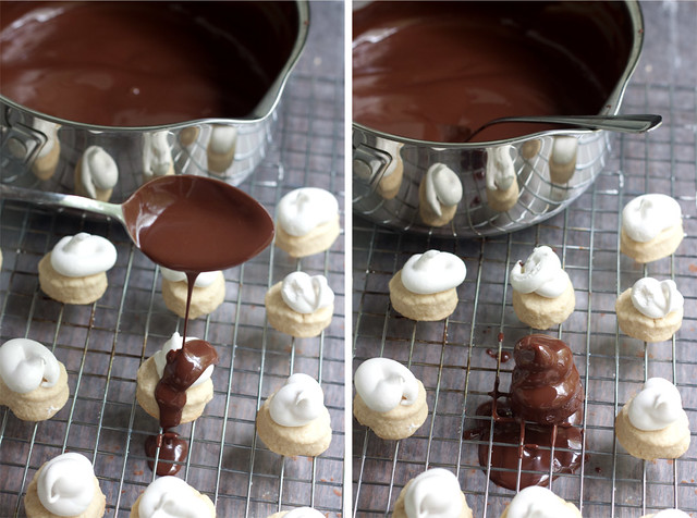 Chocolate Covered Nutella-Mallow Cookies