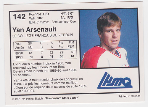 College Francais - Arseneault back
