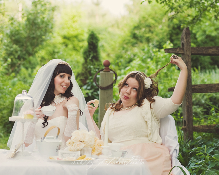 whimsical bridal tea party