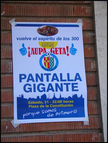 Cartel Apoyo Getafe