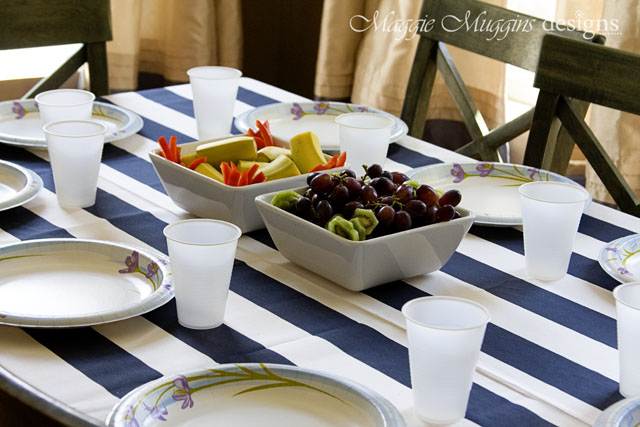 Simple Pirate Table Setting