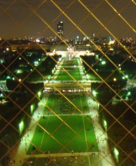Eiffel tower Backyard (Abuturky) Tags: paris fence nice backyard goldennight