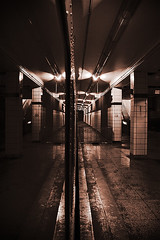 exit (serhio) Tags: toronto ontario canada reflection abandoned station digital train canon dark subway eos rebel mirror bay metro ghost platform haunted explore exit lower blanche nuit sergei 2007 xti 400d yahchybekov serhio
