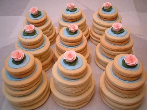 Mini Wedding Cake Cookies