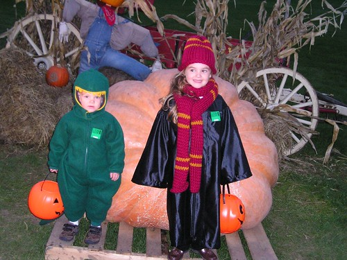 Farm and Halloween Megan and Noah