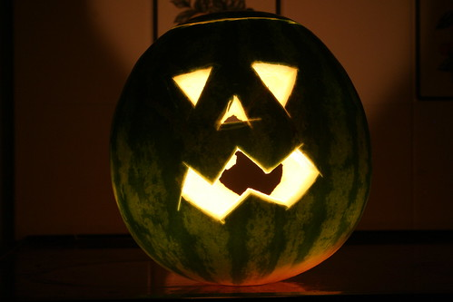 Walter the Watermelon Jack-o-Lantern