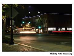 Traffic (Mike Beauchamp) Tags: old mike night dark town downtown traffic kansas wichita beauchamp