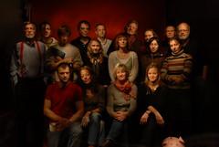 Portrait Course Members (KEMFKfotorip) Tags: light portrait color studio pig nikon funny paint with group experiment course d200 1755 emilschildt paintwihlight