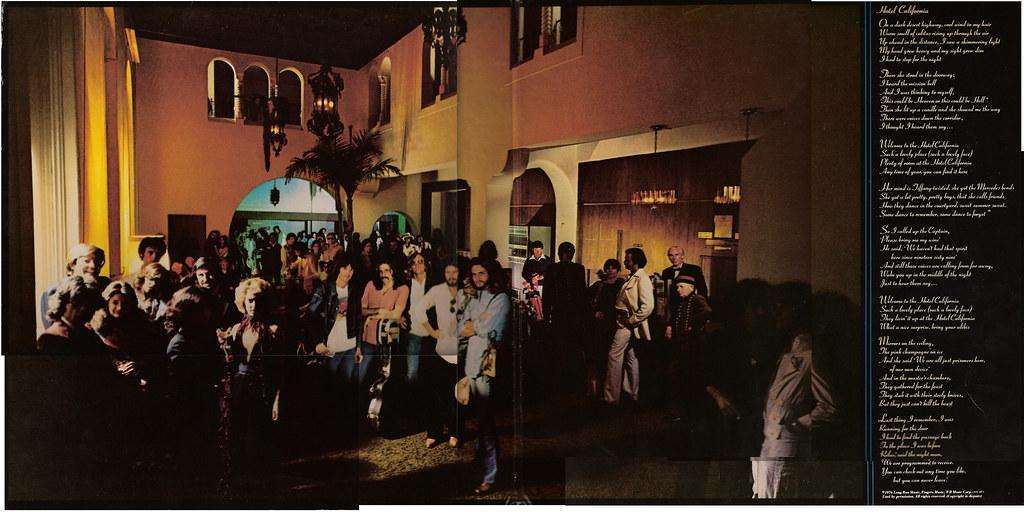 Hotel California Original LP Inside Cover Art