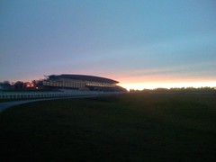 Sunset over Ascot Racecourse
