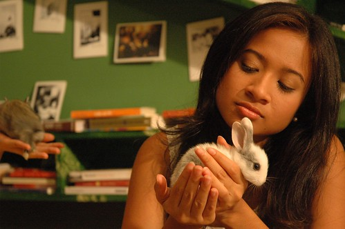 Lena and little bunny