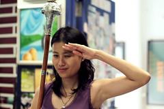Miss Chua Xin Yuan w/ Mace (headshotzx) Tags: school saint singapore andrews display teacher mace secondary miss xin yuan chua cca