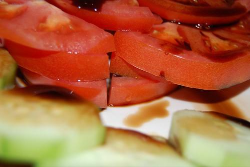 tomato, cucumber, balsamic