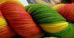 Bird of Paradise yarn closeup