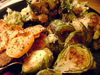 Roasted/baked veggies!