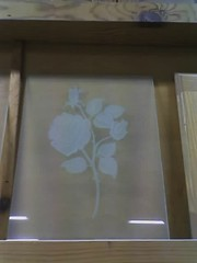 Click for etched glass page. Most etching is done by sand blasting. A few projects involve acids.