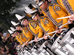 The Tiger Band Drumline in Rex 2008 (Lake Fred) Tags: neworleans parade lsu mardigras rex tigerband goldenmix mywinners diamondclassphotographer flickrdiamond wonderfulworldmix theperfectphotographer life~asiseeit thegoldproject