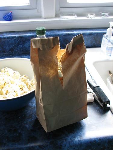 stapled bag