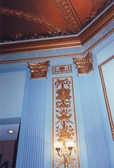 Lincoln Theatre Plasterwork (Mr.TinDC) Tags: architecture washingtondc dc plaster scanned 1995 theaters ceilings theatres ustreet lincolntheater pilasters lincolntheatre
