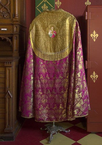 Rose vestments, Saint Francis de Sales Oratory, in Saint Louis, Missouri, USA