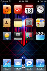 iPod Touch Home Screen (Lukes Beard) Tags: home icons ipod badass touch jailbreak