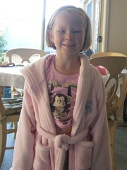 Christy in new dressing gown