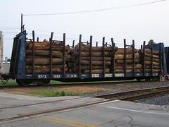 BFPX 1003 (Milwaukee beerNut) Tags: railroad wisconsin flat rail bulkhead dupy duplainville pulpwood